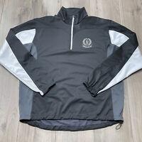 Galvin Green Gore Windstopper Golf Jacket Mens Medium 1/2 Zip Black Pullover