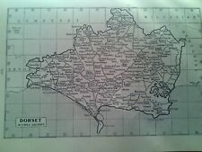 Map of Britain Rivers & Towns Dorset or Somerset 1940's Small Page to Frame?