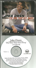 JAKE OWEN One That got REPEATS 3 TIMES PROMO DJ CD single 2012 w/ PRINTED LYRICS