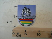 STICKER,DECAL HOTEL DE WALVISVAARDER LIES TERSCHELLING SCHIP BOOT