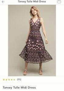 Anthropologie Moulinette Soeurs Tansey Tulle Midi Dress Size 8
