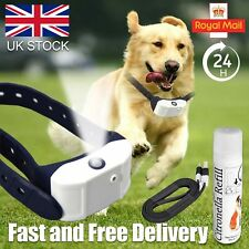 Stop Barking Rechargeable Citronella Dog Collar Anti No Bark Train Mist Spray UK