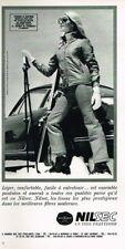 O- Publicité Advertising 1969 Les Vetements de ski Nilsec