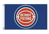 Detroit Pistons NBA 3X5 Indoor Outdoor Banner Flag w/ grommets for hanging