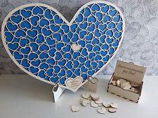 Guest book matrimonio libro degli ospiti dropbox legno puzzle cuore heart cuori