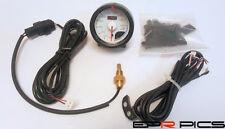 D1 Spec 52mm JDM MOTOR DE PASOS Esfera Blanca Medidor temperatura del aceite