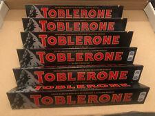 TOBLERONE Dark 6 x 100 g Barres B/BEF 09/2021 nougat aux amandes Bargain Dark TO...