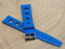 Vintage 1970s Heuer Blue Tropic Sport watch band 18mm for Divers & Jacky ICKX