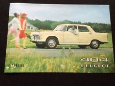 Catalogue Brochure Publicitaire PEUGEOT 404 Automobile