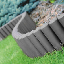 2,7 m Palisade Beetumrandung grau Kunststoff Rasenbord Borde Gartenweg gestallte
