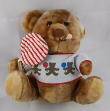 """Dakin Lollipop Teddy Bear Plush 9"""" 1984"""