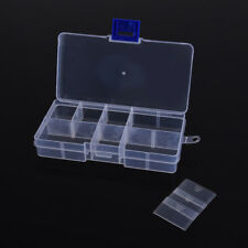 1PC Small Clear Jewelry Electronic Component Container Part Storage Plastic Box