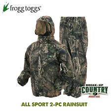 Frogg Toggs ALL SPORT Mossy Oak BU Country Camo 2-pc Rain Suit - Adult MEDIUM