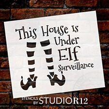 "Elf Surveillance - Elf Legs - Word Art Stencil - 12"" x 10"" - STCL2112_1 - by..."