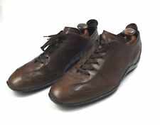 Tod's Gommino Brown Leather Driving Shoes Sneaker Lace-Up Size 12
