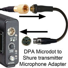 COUNTRYMAN DPA MICRODOT TO SHURE TA4F 4 PIN MINI XLR (TINY Q) MICROPHONE ADAPTER