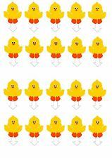 EDIBLE CAKE CUPCAKE TOPPERS DECORATION EASTER CHICK STAND UPS