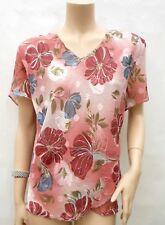 Haut T-shirt PERRIE T 46 XXL 6 Motif Floral Doublé Top Tee-shirt Camiseta été