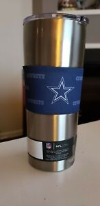 Dallas Cowboys 20 oz Stainless Steel Tumbler - Silver