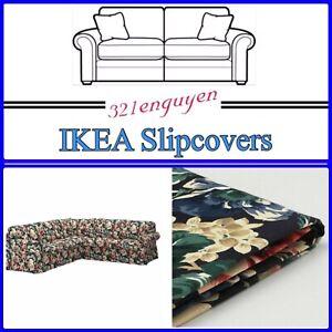 IKEA EKTORP 4 Seat Corner Sectional Sofa Slipcover Cover LINGBO MULTICOLOR