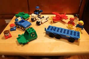 Lego Duplo Vehicles and People - Motorcycles, Airplane, Cars