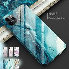 Vidrio templado completo de mármol cubierta estuche para iPhone 11 Pro Max XS Xr X 8 7 Plus 6s
