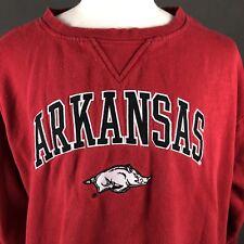 Arkansas Razorbacks Men's Sweatshirt Size XXL By Genuine Stuff Heavyweight Hogs