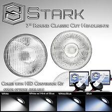 "H6024 Head Light Glass Housing Lamp Classic Conversion Chrome 7"" Round HID Kit"