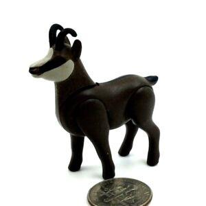Playmobil Mountain Goat w/ Horns 5423 HTF Brown Alps Animal Dollhouse  E23