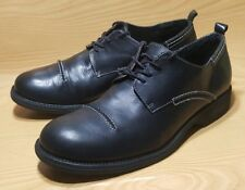 STEVE MADDEN OXFORDS BLACK LEATHER CASUAL SHOES MENS 12 M