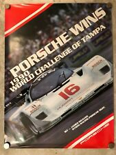 1990 Porsche 962 Race Victory Showroom Advertising Poster RARE! Awesome L@@K VG+