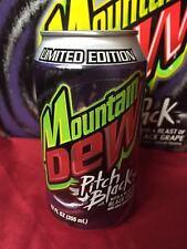 Mountain Dew Pitch Black Original Grape Formula Soda Can 2004 ( Empty ) 1st Edi