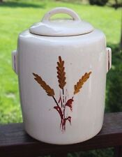 Vintage McCoy Mid Century Eames Era Wheat Ceramic Pottery Cookie Jar Lid