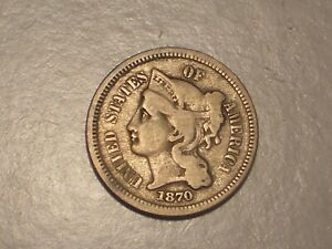 1870 Three Cent Piece (Fine & Attractive)