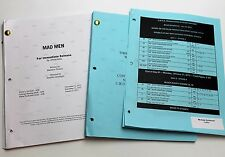 Mad Men * 2x DIFFERENT 2012 TV Script DRAFTS * Jon Hamm * Season 6, Episode 6