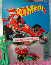 TARMAC ATTACK #125✰red/turquoise✰Tooned✰2017 Hot Wheels Kmart case F