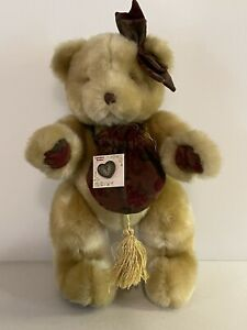 Enesco Group Cherished Teddies Plush Teddy Bear with Heart Pin, New with Tags