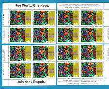 Canada Stamps1996 45 Cent Scott* 1603  Block Of 4 Corner Aids Awareness