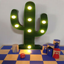 Plastic Tropical Cactus Marquee LED Lamp Garden Cocktail Light Party Kids Gift
