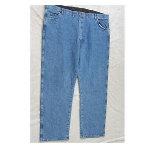 "Wrangler Regular Fit Blue Jeans Pants Zipper Fly Cotton Mens Mans 46"" x 30"" J76"