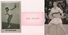 Vicki Cardwell Australia Squash Former World Number 1 Player Signed Card + Photo