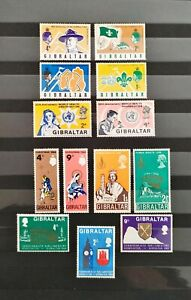 British Colonies. Gibraltar 1968, 1969. 5 SETs (**). 13 val.