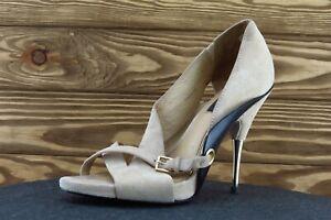 Rachel Zoe Women Sz 7.5 M Beige Stiletto Leather Shoes