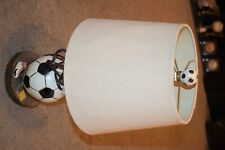 Bedroom Soccer Ball Themed Design Table Lamp Shade has A few Dents