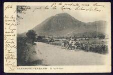 Carte Postale Ancienne 63 - CLERMONT FERRAND Le PUY de DÔME Attelage Tombereau