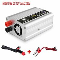 500W Vehicle Car Power Inverter Converter 12V DC to AC 220V USB Charger Modified