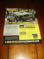 2011 PAXTON SUPERCHARGER MUSTANG 5.0 ***ORIGINAL AD***