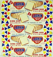 Vintage bread wrapper LARKIN KING SIZE PULLMAN Elizabethton Tennessee unused
