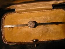 Exquisite Art Deco Quality 18ct Gold, Platinum & Diamond Cluster Brooch