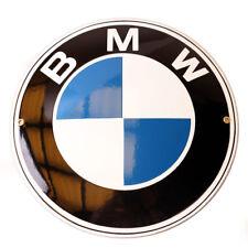 "Enamel plaque BMW 12"" LOGO collectable sign circle WARRANTY-10 ys metal emblem"